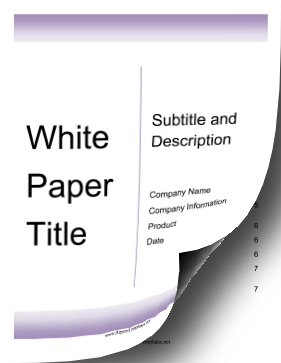 White Paper Outline Template 8+ research paper outline templates ...